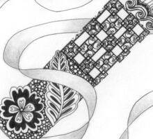 Zentangle®-Inspired Art - Tangled Alphabet - Z Sticker