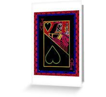 Neon Jack of Hearts Greeting Card