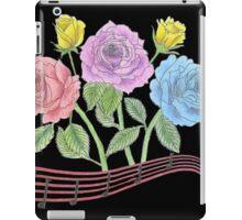 Musical Flowers -- Black iPad Case/Skin