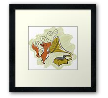 squirrel and music Framed Print