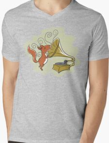 squirrel and music Mens V-Neck T-Shirt