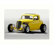 1933 Ford 'Soft Top' Coupe Art Print
