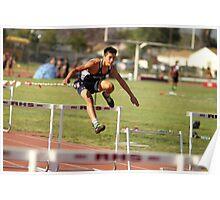 100m Varsity Hurdler Poster
