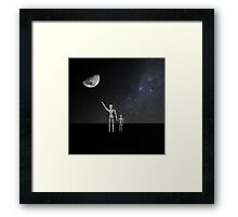 Moon in Sky - His name was armstrong Framed Print