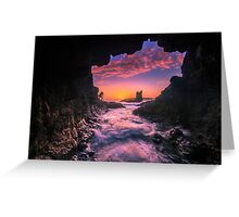 Cathedral Rocks Cave Greeting Card