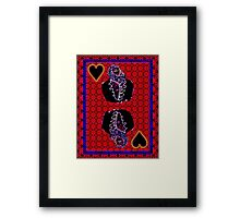 Neon King of Hearts Framed Print