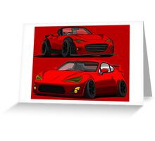 Mazda Miata MX 5 and Gt 86 Greeting Card