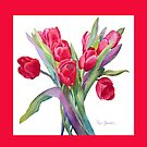 Springtime Tulips Throw Pillow! by Pat Yager