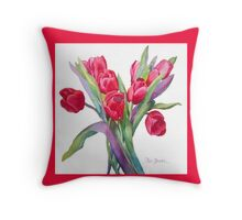 Springtime Tulips Throw Pillow! Throw Pillow