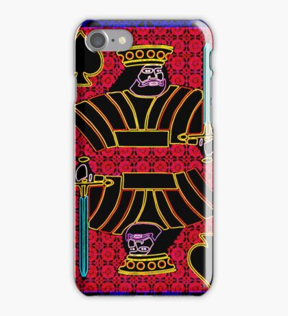 Neon King of Spades iPhone Case/Skin