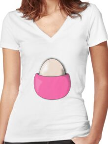 Chansey Egg Pokemon Women's Fitted V-Neck T-Shirt