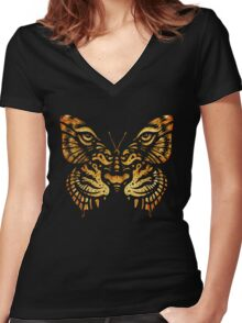 Camouflage Women's Fitted V-Neck T-Shirt