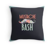 Mustache Bash Throw Pillow