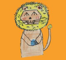 Lion cute children drawing by javibo