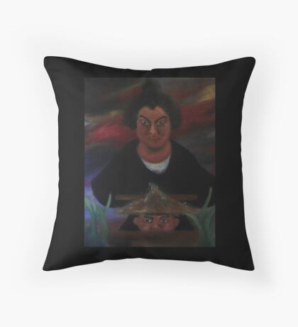 At the Crossroads to Hell Throw Pillow