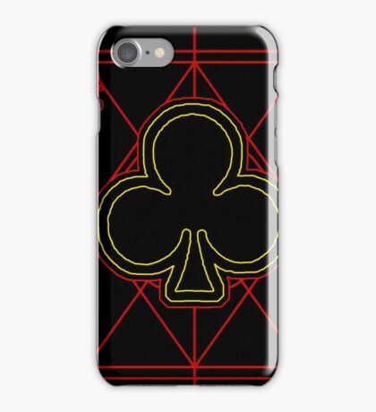 Neon Ace of Clubs iPhone Case/Skin