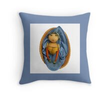 The Veggies - Babes in the Food (Blue for a Boy) Throw Pillow