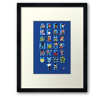 A-Z of Indie Games Framed Print