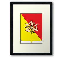 Coat of arms of Sicily Framed Print