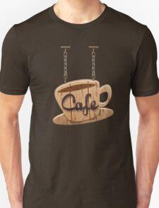Vintage Wooden Hanging Cafe Sign T-Shirt