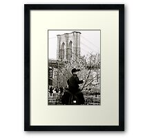 Where is the Brooklyn Bridge, Daddy? Framed Print