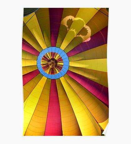 Hot air balloon. Interior Poster
