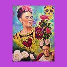 Frida (Pillow) by Jennifer Ingram