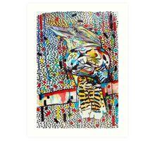 colourful kookaburra Art Print