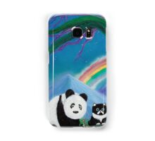 The Panda The Cat and The Rainbow Samsung Galaxy Case/Skin
