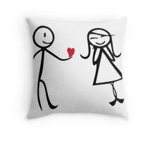 Love Hearth Throw Pillow