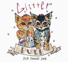 Glitter puke  by tamaghosti