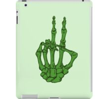 Peace Skeleton Hand - Green iPad Case/Skin