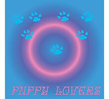 puppy lovers Photographic Print