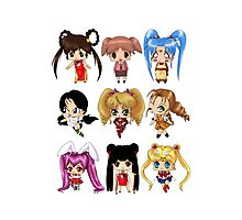 Anime Pigtails Photographic Print