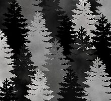 Tree Pattern Black & White by napiks