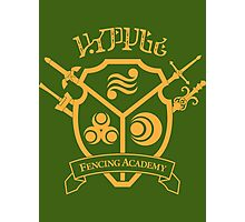 Hyrule Fencing Academy - Gold Photographic Print
