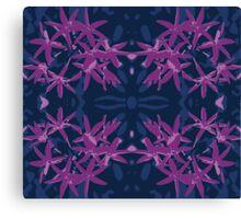 Flannel flower blue mirror Canvas Print