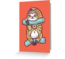 Mandala Sloth Greeting Card