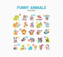 "Alphabet ""Funny animals"" for children's Unisex T-Shirt"
