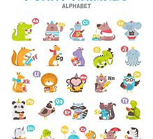 "Alphabet ""Funny animals"" for children's by moryachok"