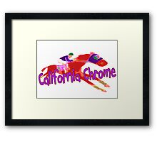 Fun California Chrome Design Framed Print