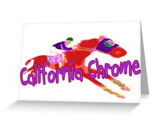 Fun California Chrome Design Greeting Card
