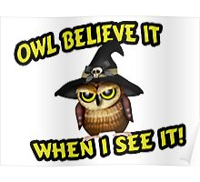 Owl Believe It When I See It Poster
