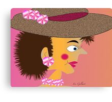 Mrs. Button Canvas Print