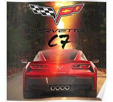 Corvette C7 Poster