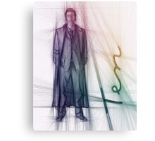 The Tenth Doctor Doctor Who Colorful Sketch Canvas Print