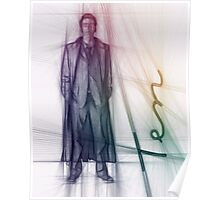 The Tenth Doctor Doctor Who Colorful Sketch Poster
