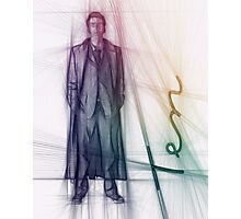 The Tenth Doctor Colorful Sketch Photographic Print