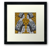 Gold Disco Nun Framed Print