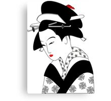 Vintage Chinese Geisha Girl Canvas Print